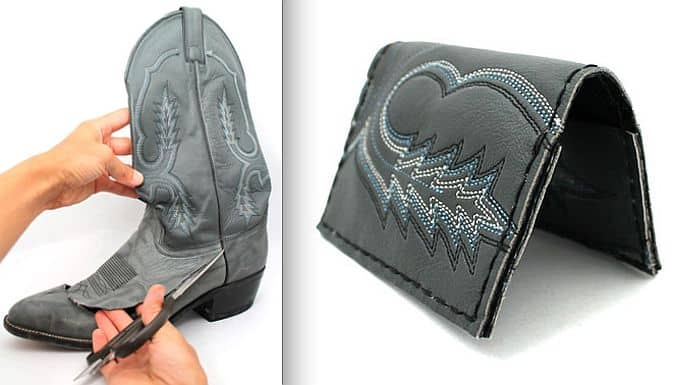 Upcycling with style great projects made from old boots view in gallery diy cowboy boot wallet solutioingenieria Choice Image