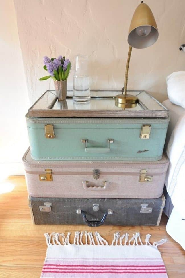 DIY Vintage suitcase side table