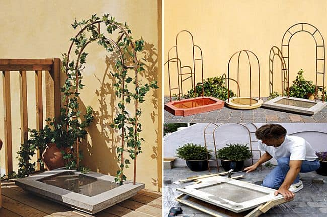 DIY Water Feature with Trellis