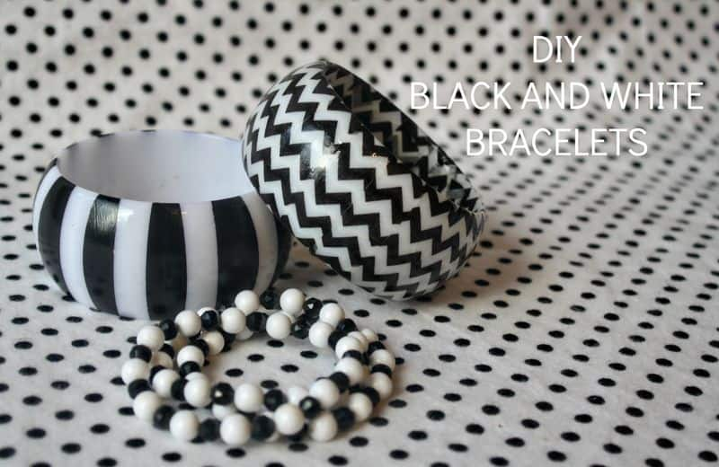 DIY black and white bracelets