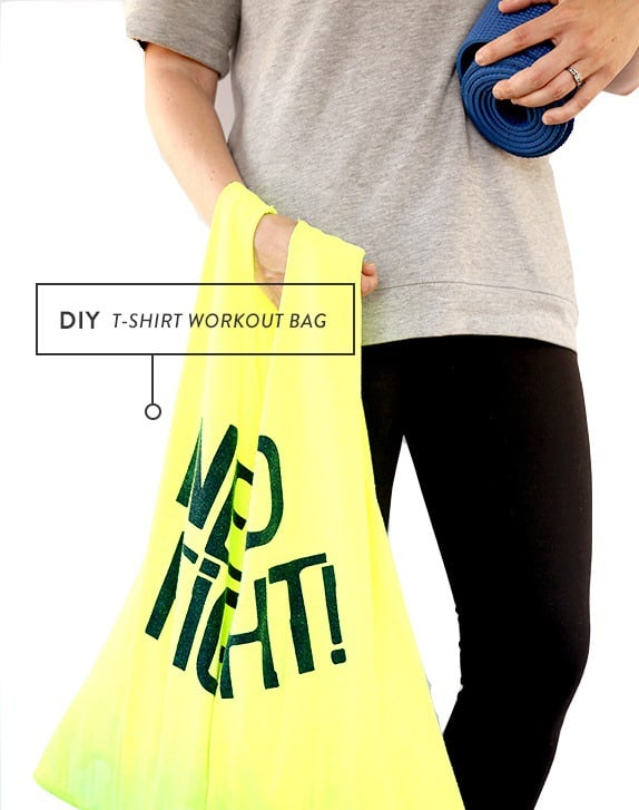 DIY t-shirt workout bag