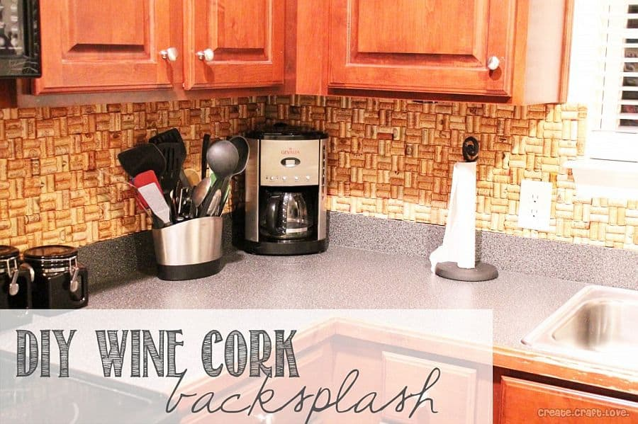 Appealing Diy Wine Cork Backsplash with How To Make A Backsplash In Your Kitchen