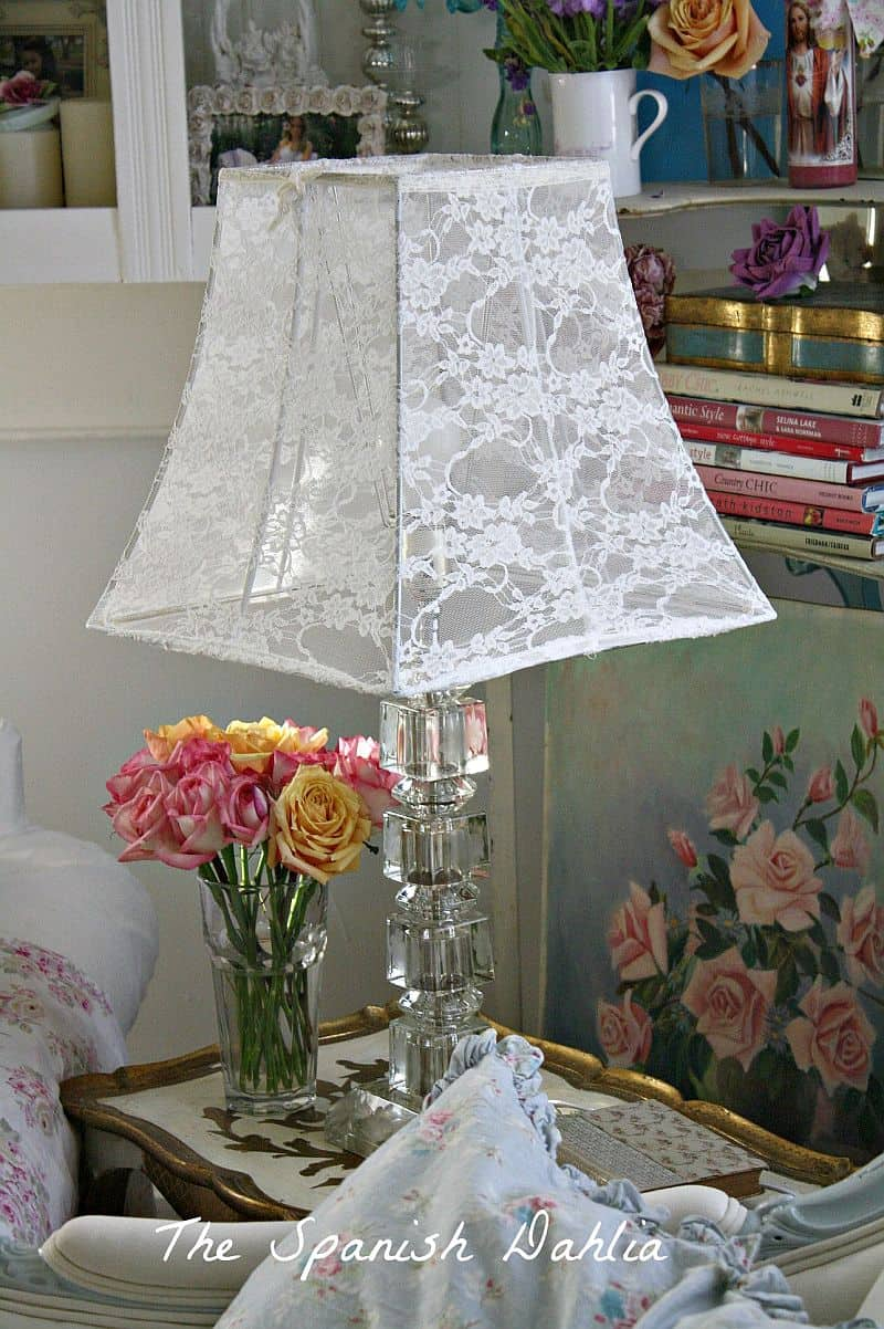DIY Lace lampshade