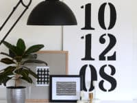 Date canvas 200x150 Timeless and Chic: Creative Black and White DIY Decor Ideas