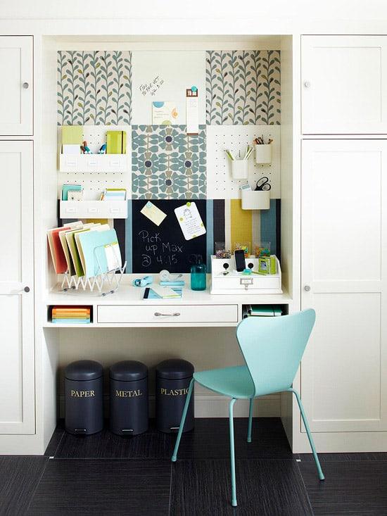Decorative desk nook