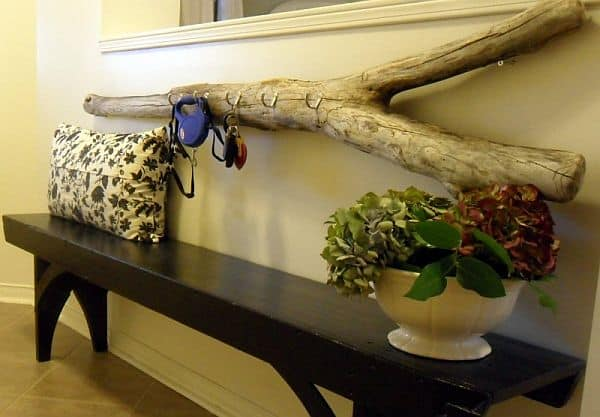 Driftwood key rack