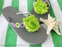 Embellished Flip Flops 200x150 9 DIY Flip Flop Makeovers