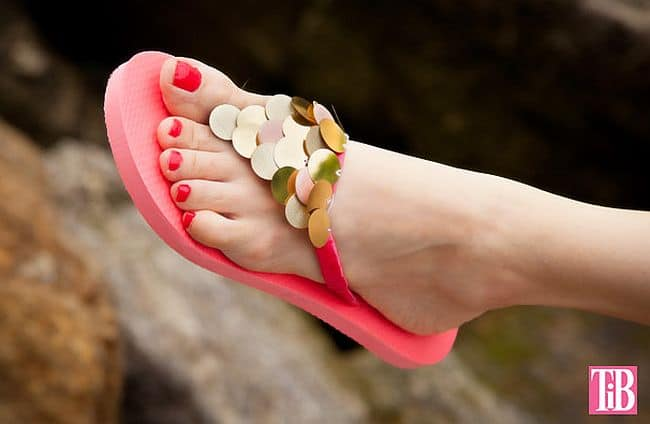 Flip Flops With Paillettes