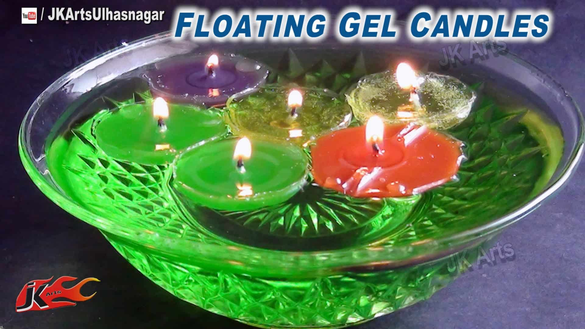 Floating gel candles