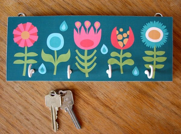 Fun painted key rack