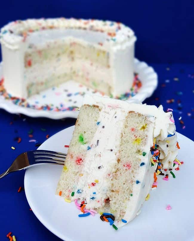 Funfetti Cake Batter Ice Cream Cake