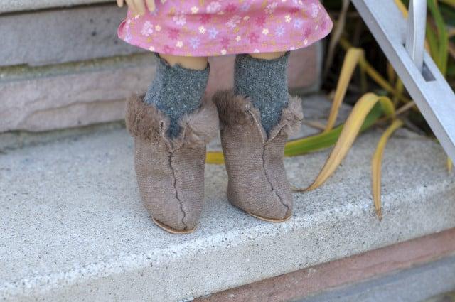 Fur boots