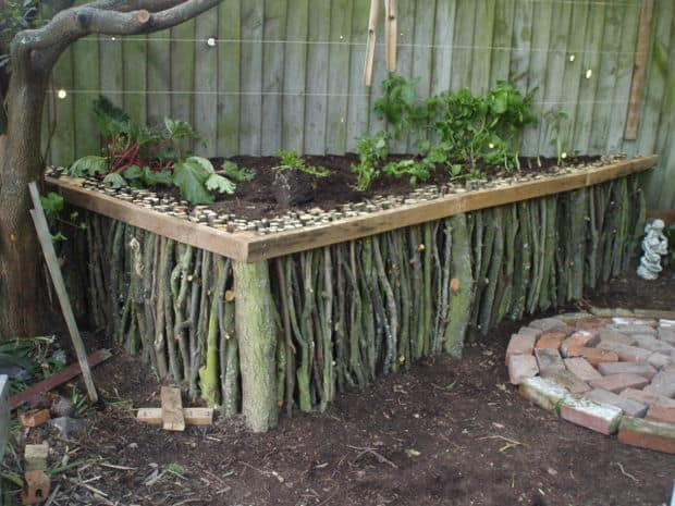Garden Bed From Branches