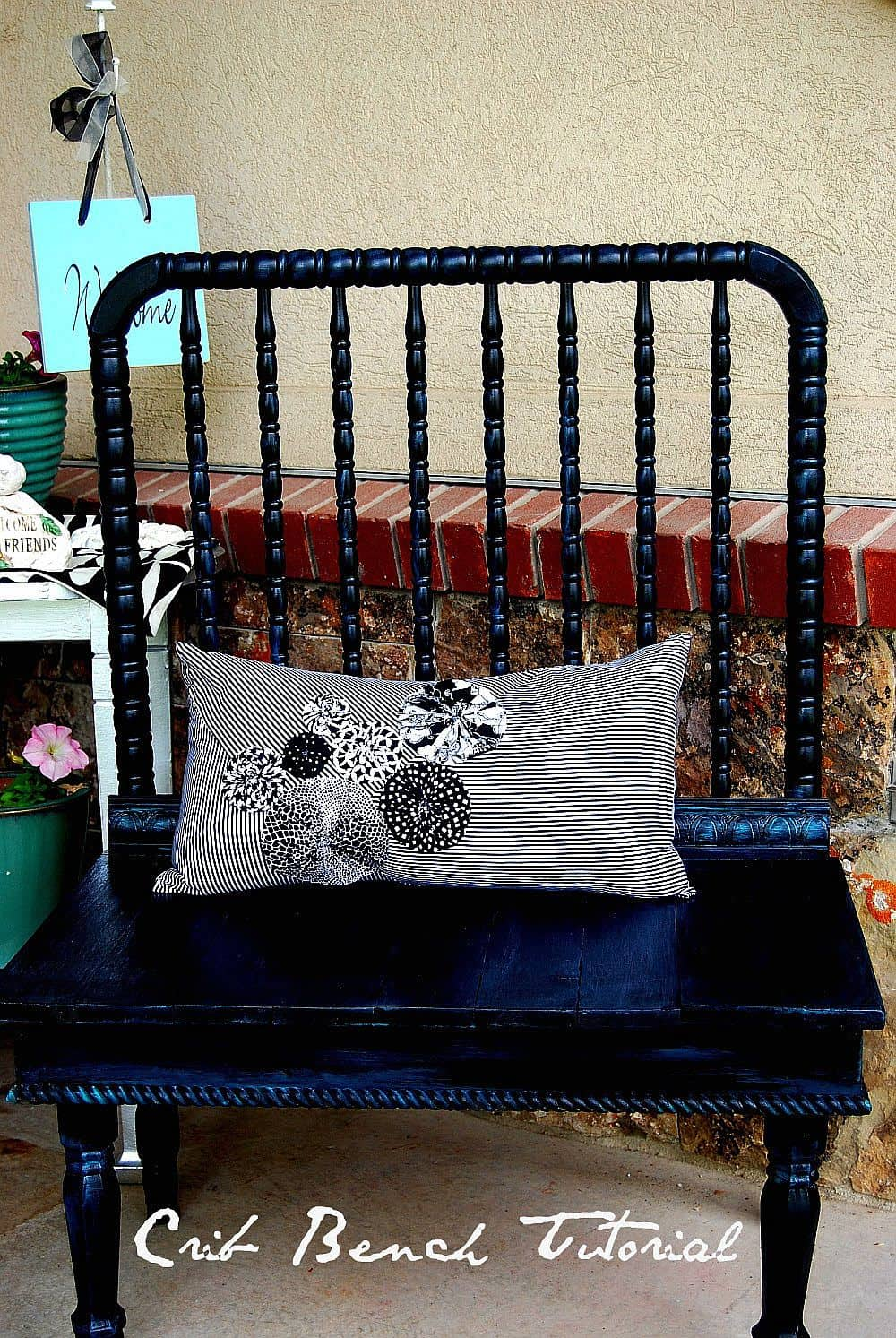 Garden bench from Crib