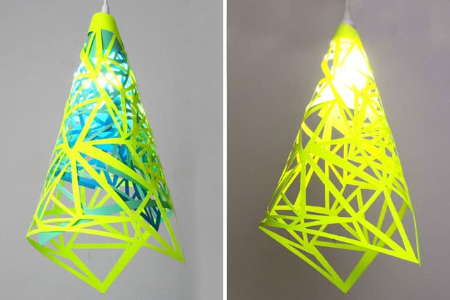 Geometric neon lamp