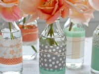 Glass bottles and scrapbooking paper 200x150 Beyond Spring: 15 Flower Arrangements That Will Inspire Your Own DIY Bouquets