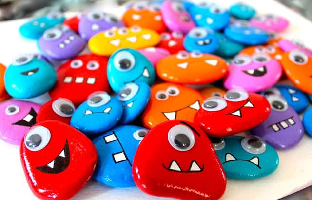 Googly monster rock magnets
