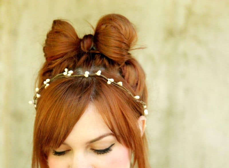 Hair bow with a hair band