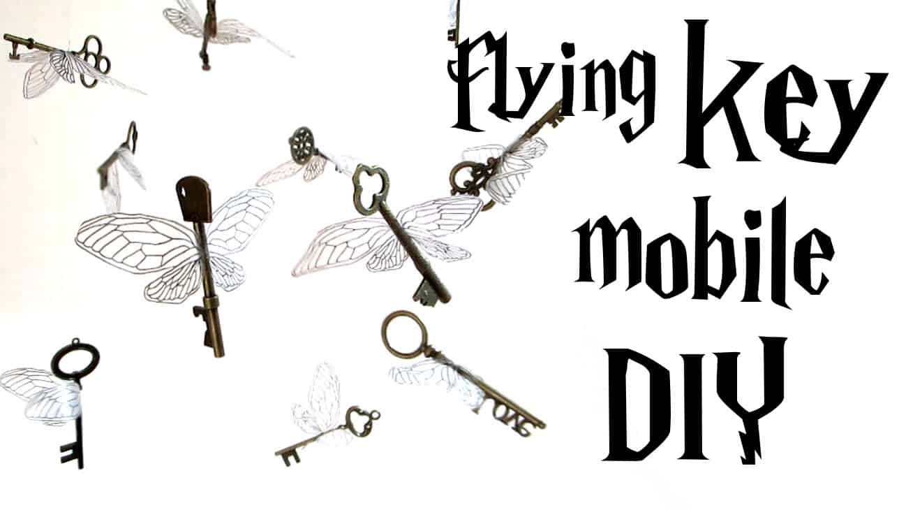 Harry Potter inspired flying key mobile