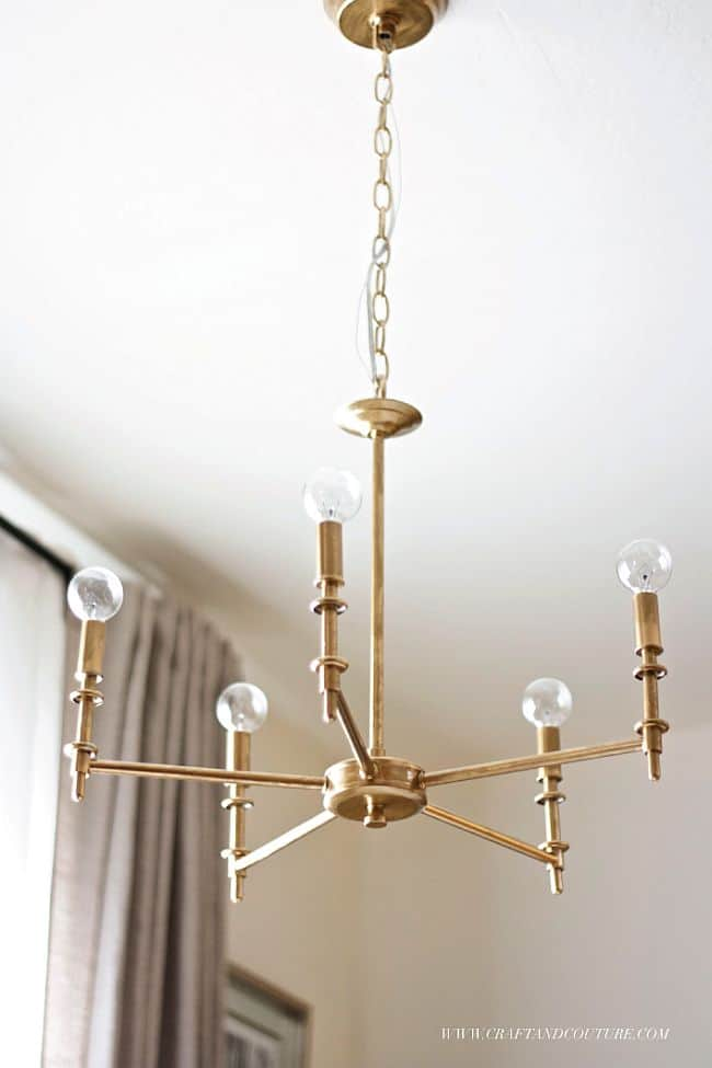 Homemade Vintage Brass Chandelier