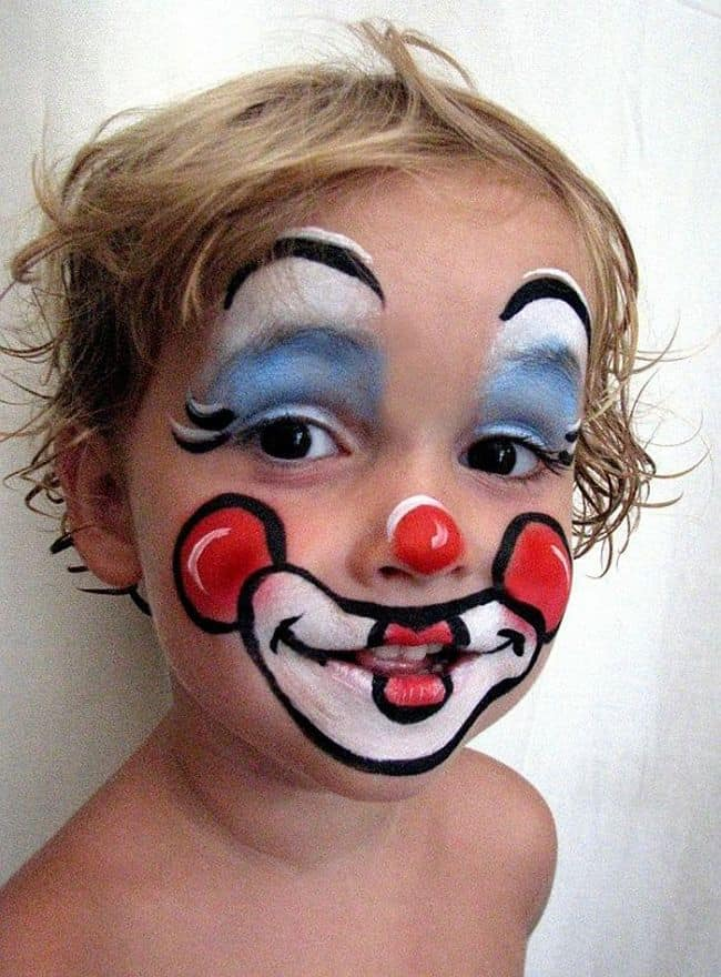 Kids Cartoon clown face painting