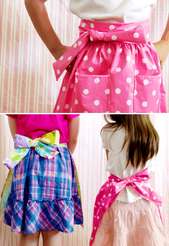 Kids DIY wipe-down apron