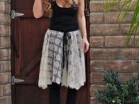 Lace ballet skirt with raw edges 200x150 DIY Dance Outfits You'll Love to Move In!