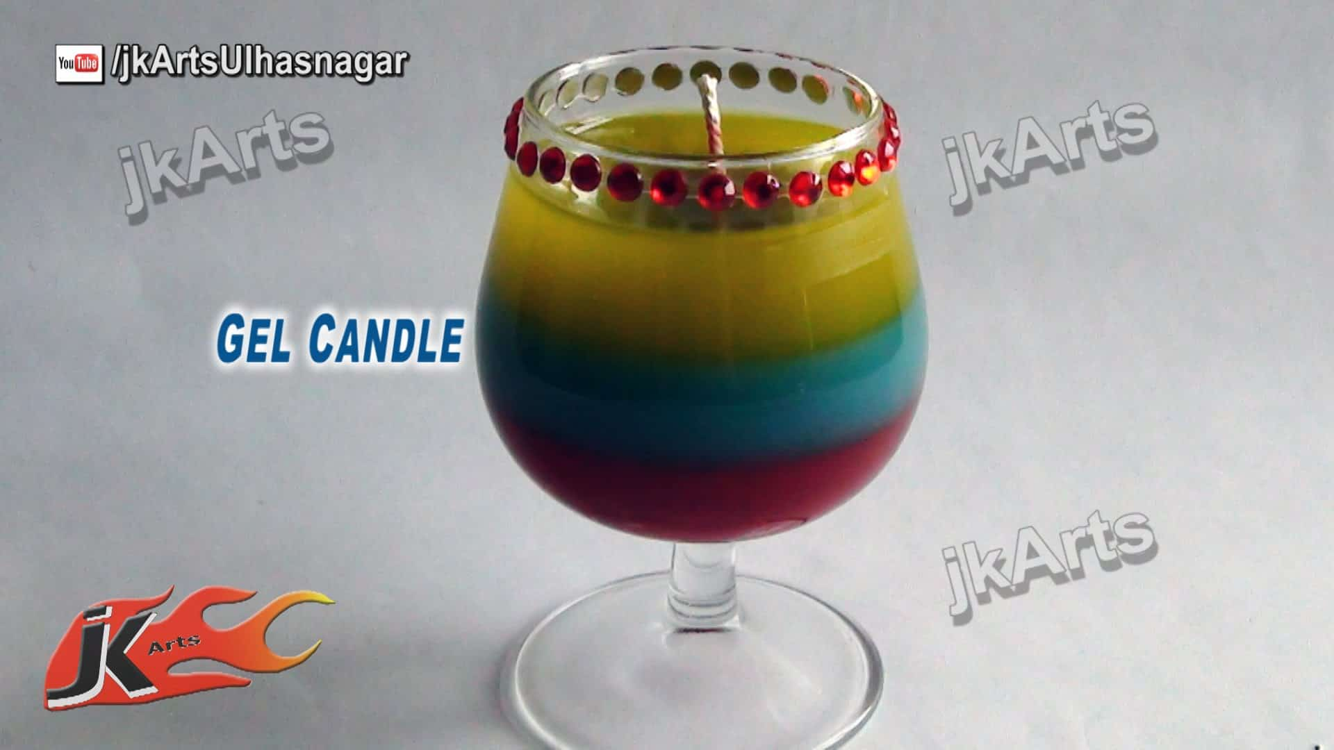Layered cocktail gel candle