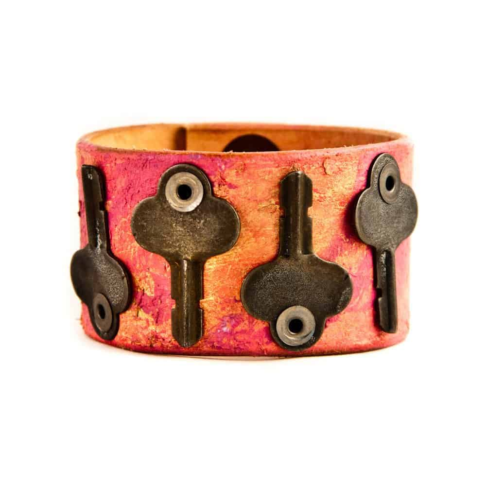 Leather key cuff