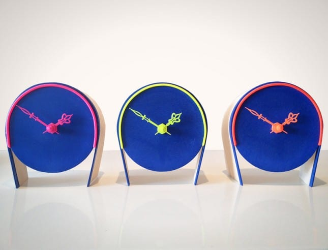 Neon desk clocks