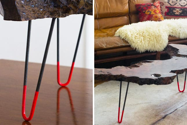 Neon dipped table legs