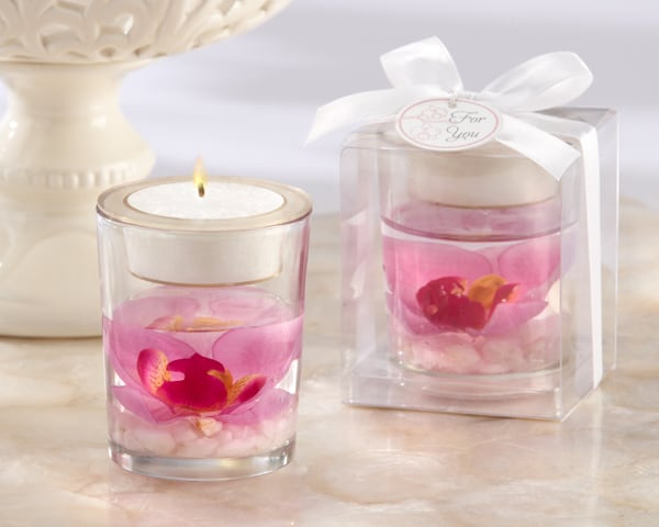 Open blossom gel candle