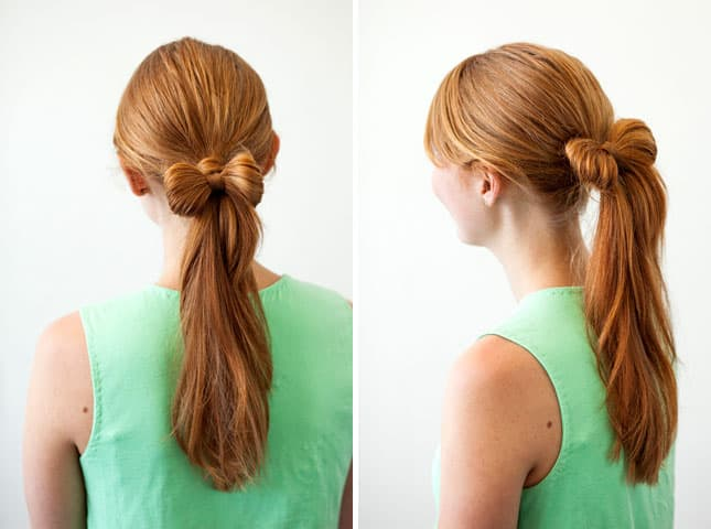 Ponytail with a hair bow