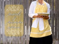 Pumps and Pearls apron 200x150 15 Cute DIY Apron Patterns for Keeping Clean in the Kitchen