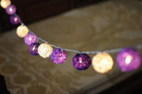 Purple DIY string ball lights