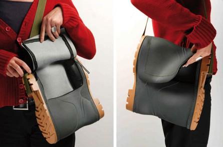 Rain boot purse