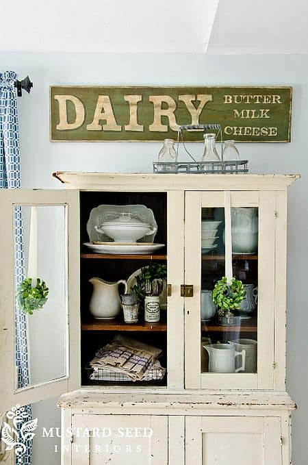Shabby chic painted antique signs