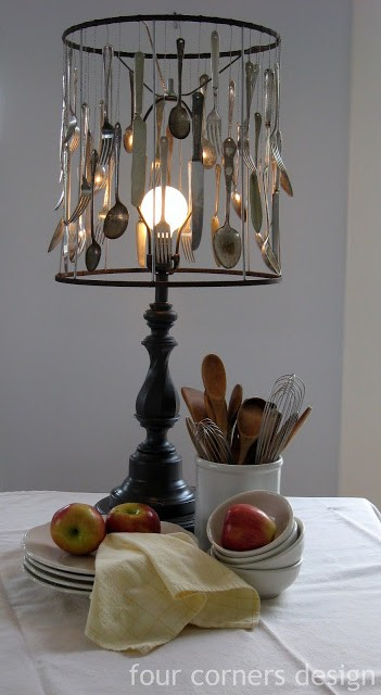 Silverware lampshade