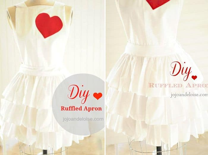 Stylish DIY ruffled apron
