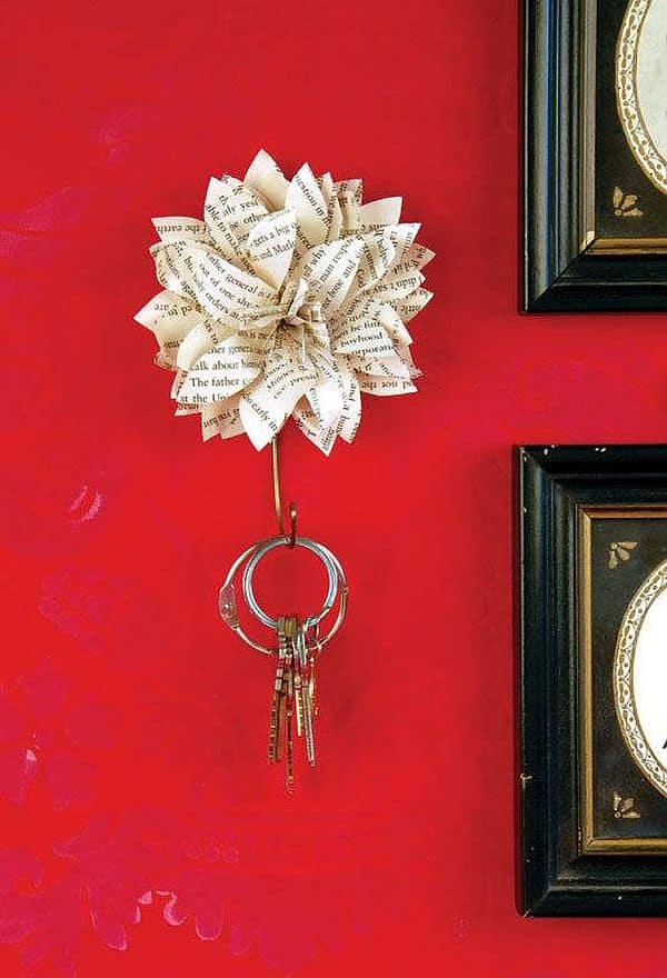 Stylish Paper flower key holders