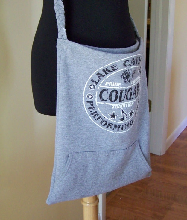Sweatshirt tote bag