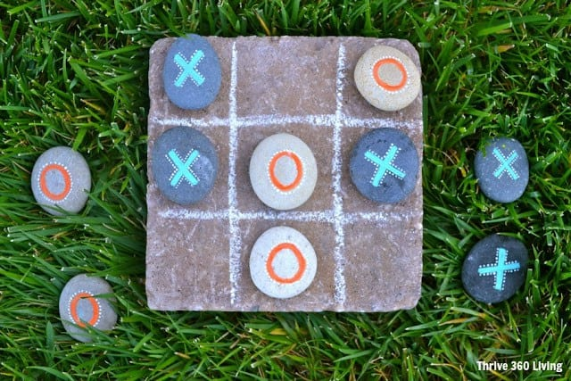Tic Tac Toe rock garden game
