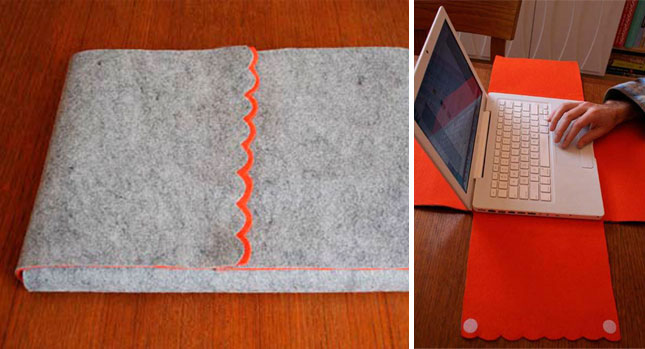 Unfolding laptop cozy