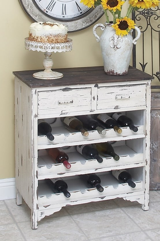 Vintage dresser wine cabinet