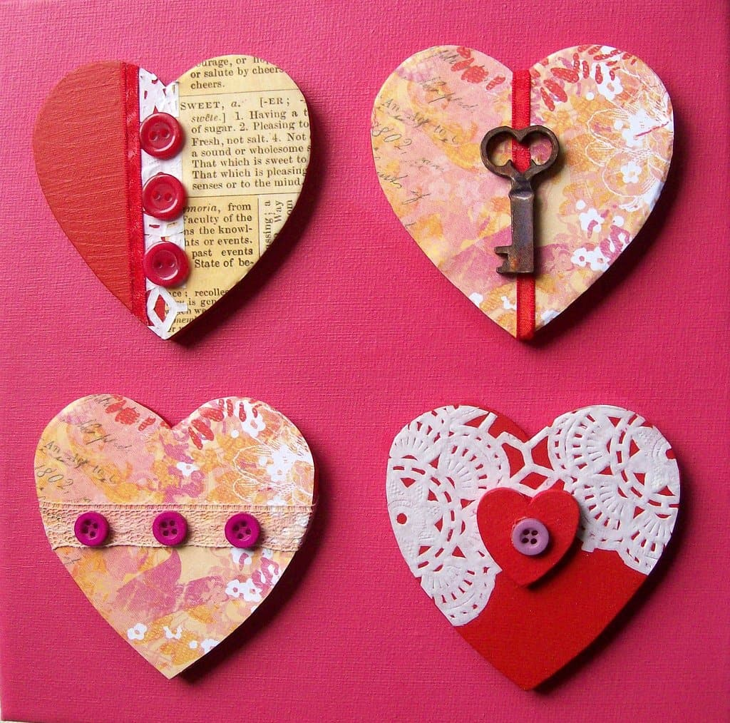 Vintage key Valentine