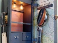 Vintage suitcase cabinets 200x150 DIY Vintage Bedroom Decor Ideas