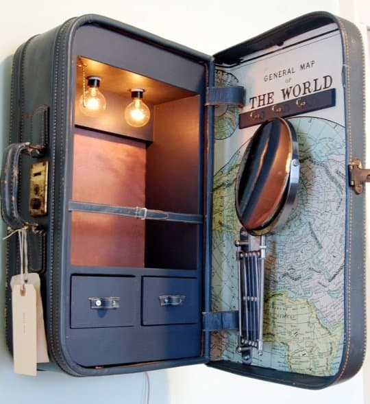 Vintage suitcase cabinets
