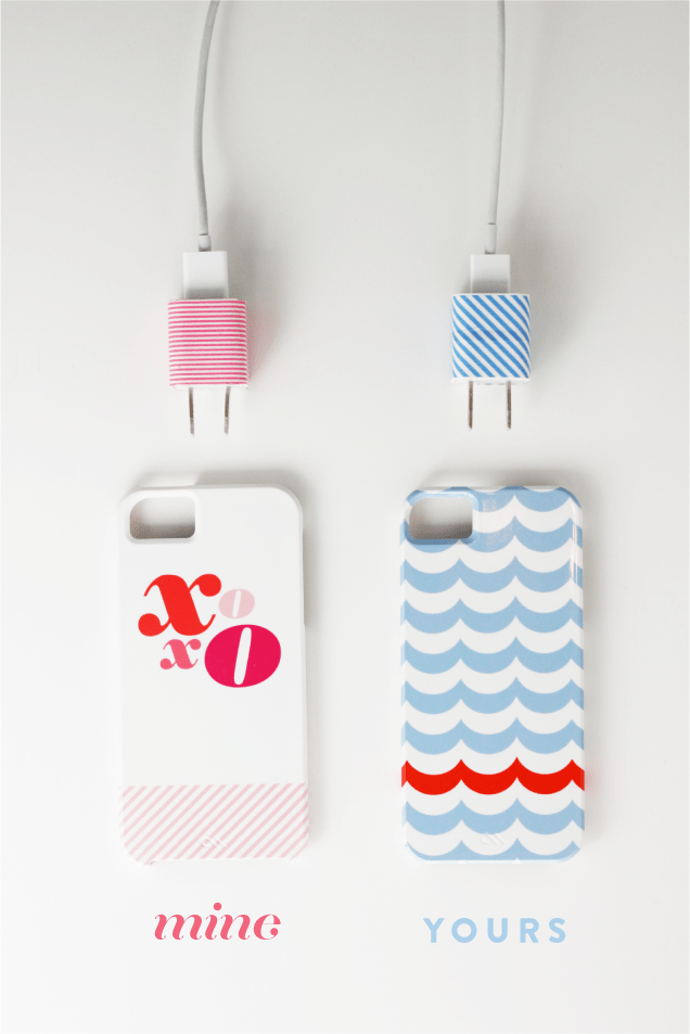 Washi tape phone adapters