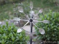 Whirling garden decor 200x150 Interesting Ways to Upcycle Cutlery