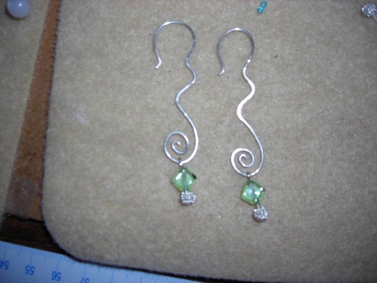 View In Gallery Wiggly Bent Wire Earrings